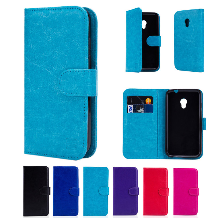 """32nd synthetic leather book wallet Alcatel Pixi 4 4.0"""" Case in a range of fantastic colours."""