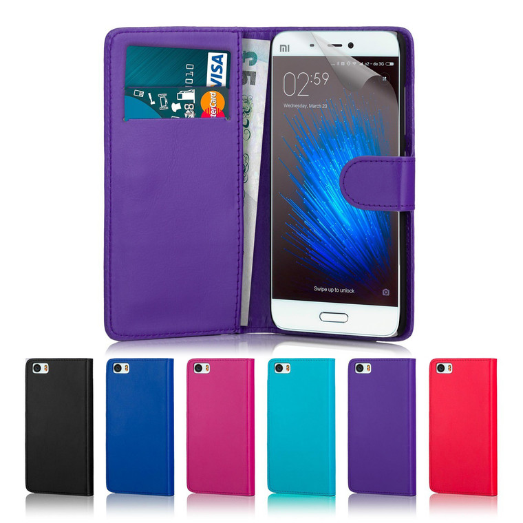 32nd synthetic leather book wallet Xiaomi Mi5 Case in a range of fantastic colours.