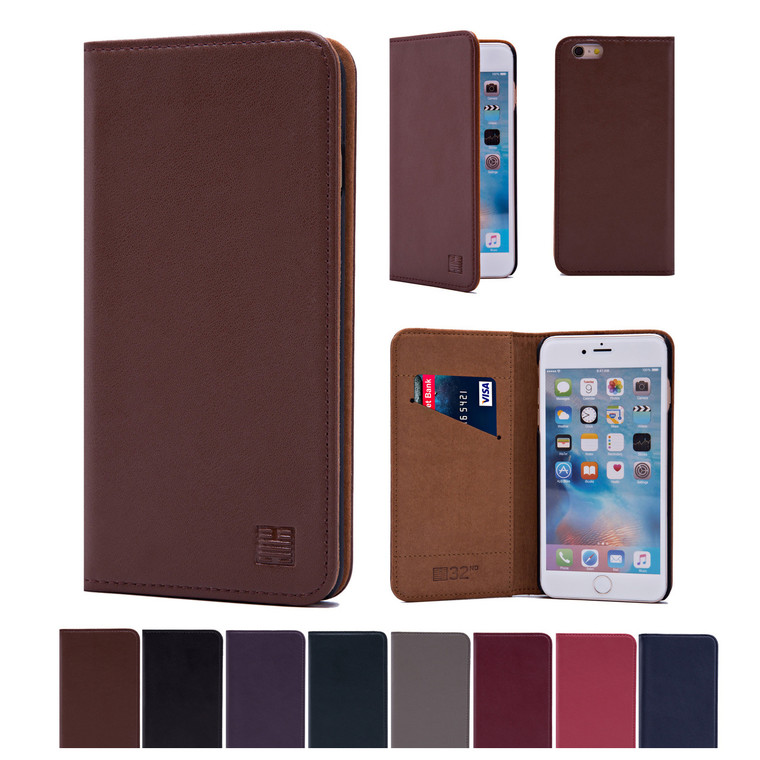 32nd real leather classic wallet Apple iPhone 5 Case in a range of stylish colours.
