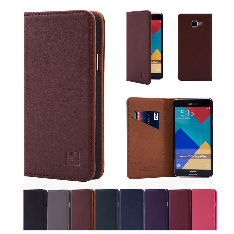 32nd real leather classic wallet Samsung Galaxy A5 (2016) Case in a range of fantastic colours.