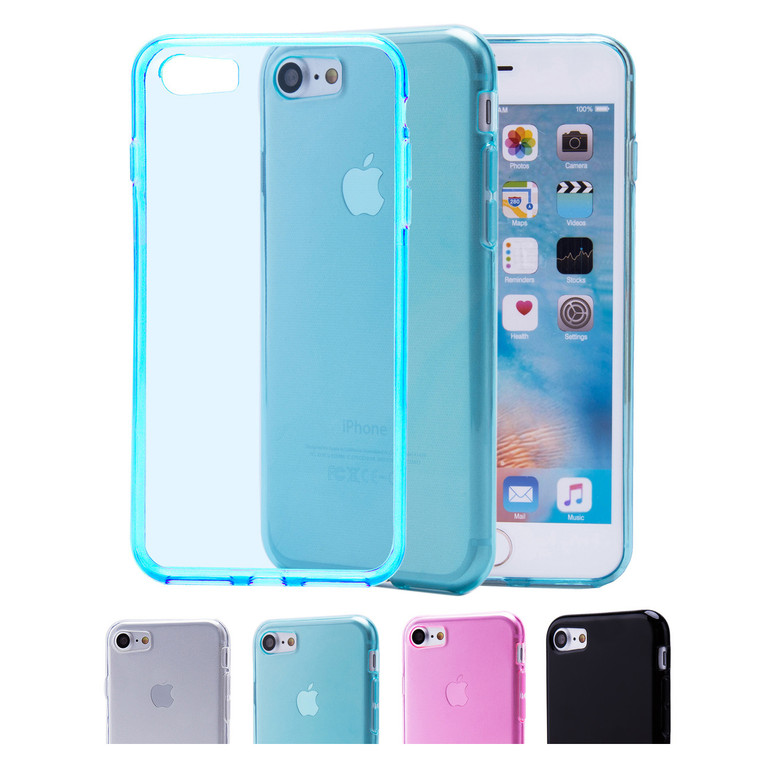 32nd clear gel Apple iPhone 7 4.7 inch Case in a range of colours.