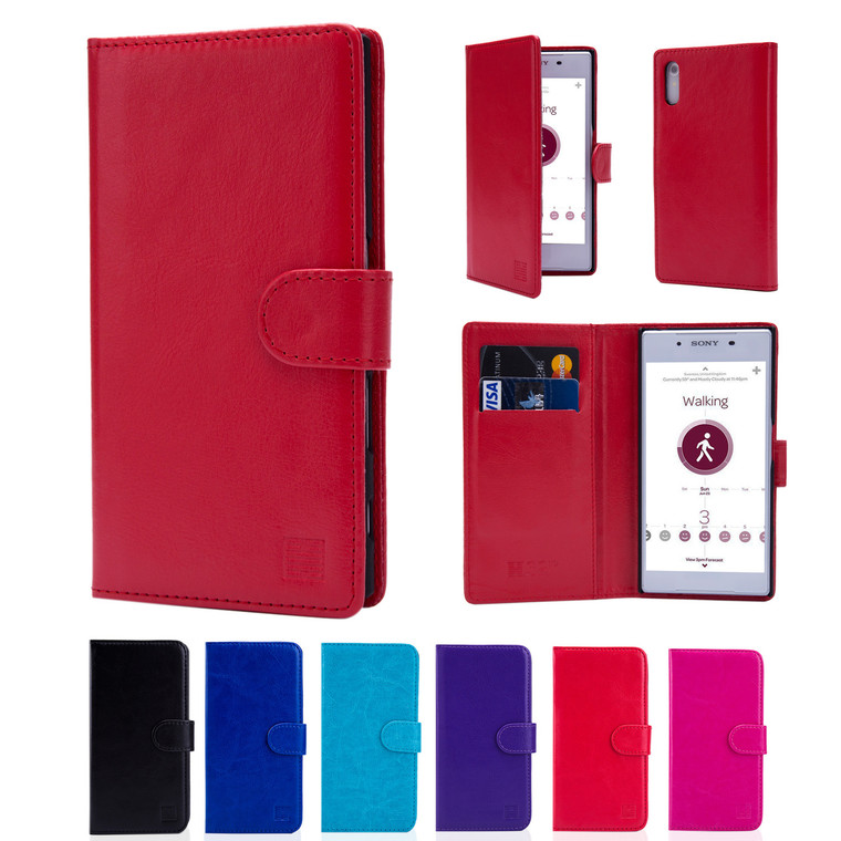 32nd synthetic leather book wallet Sony Xperia XZ Case in a range of colours.
