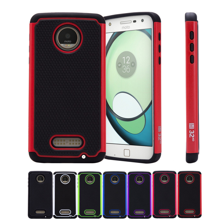 32nd dual-layer shockproof Motorola Moto Z Play Case in a great range of colours.