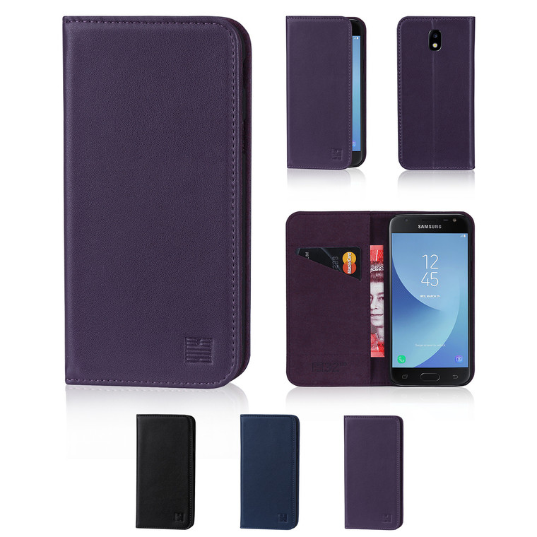 32nd real leather classic wallet Samsung Galaxy J3 (2017) Case in a range of fantastic colours.
