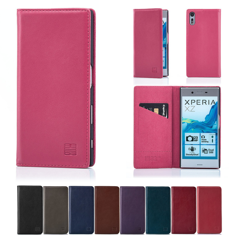 32nd real leather classic wallet Sony Xperia XZ Case in a range of colours.