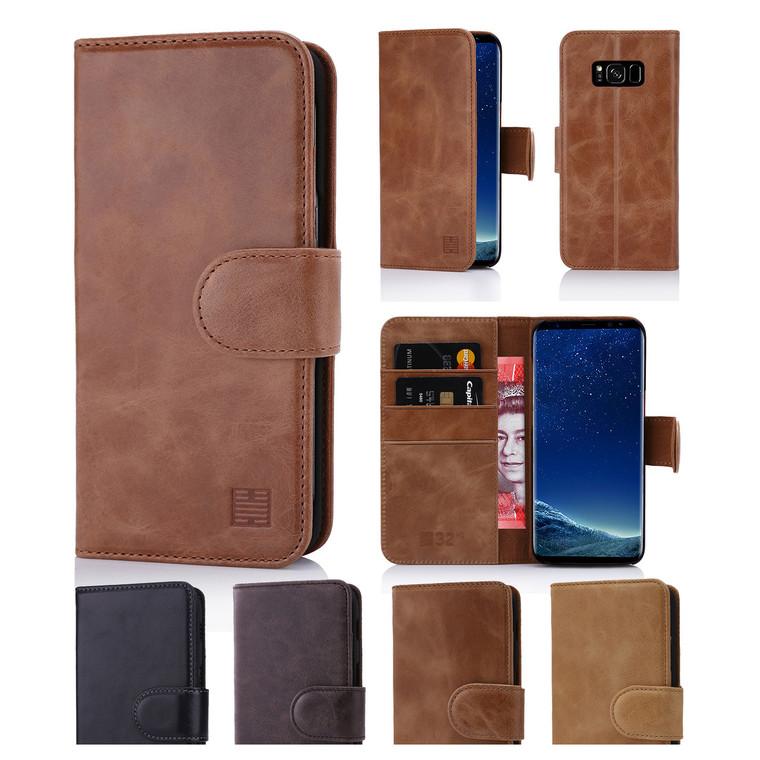 32nd premium leather book wallet Samsung Galaxy S8 Case.