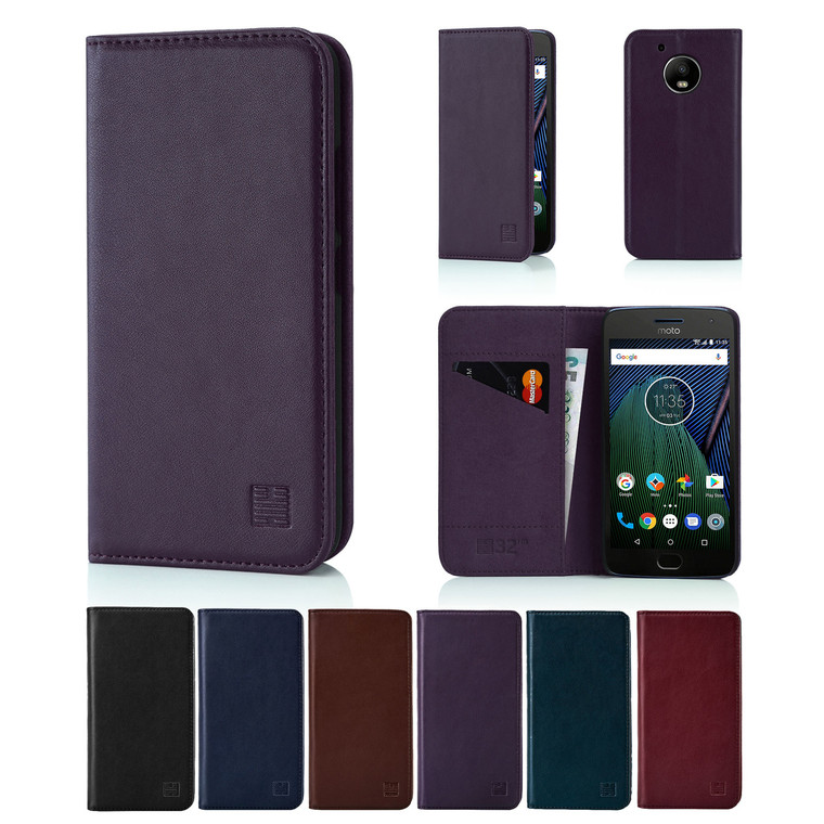 32nd real leather classic wallet Motorola Moto X4 (2017) Case in a range of fantastic colours.