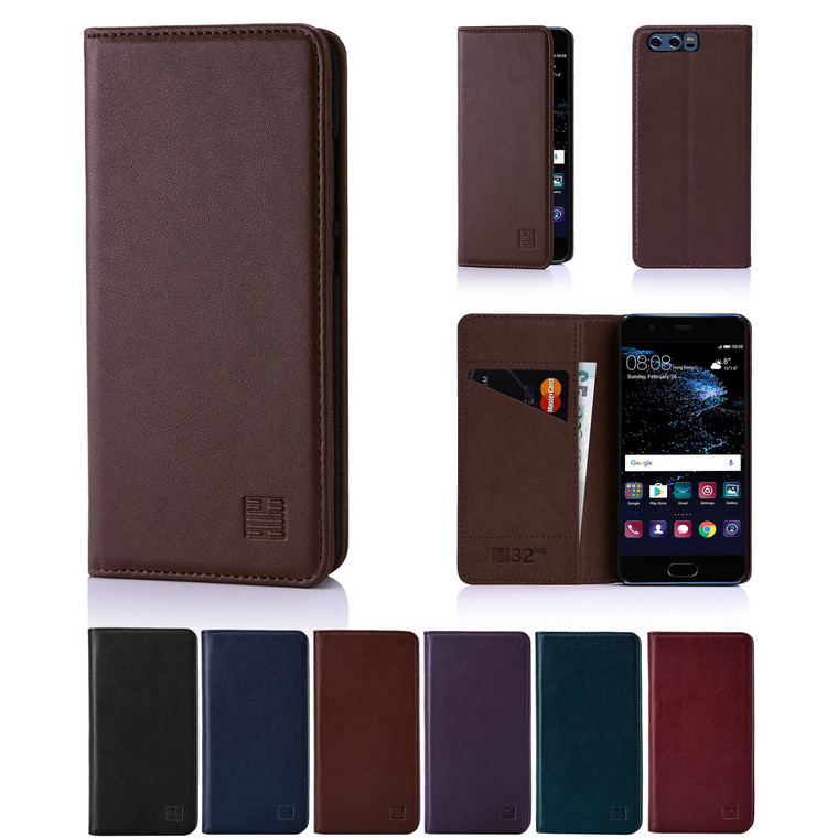 32nd real leather classic wallet Huawei Ascend P10 Case in a range of fantastic colours.