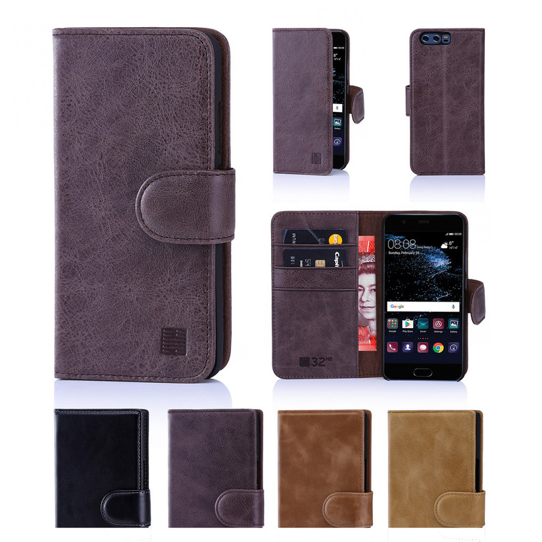 32nd premium leather book wallet Huawei Ascend P10 Plus Case.