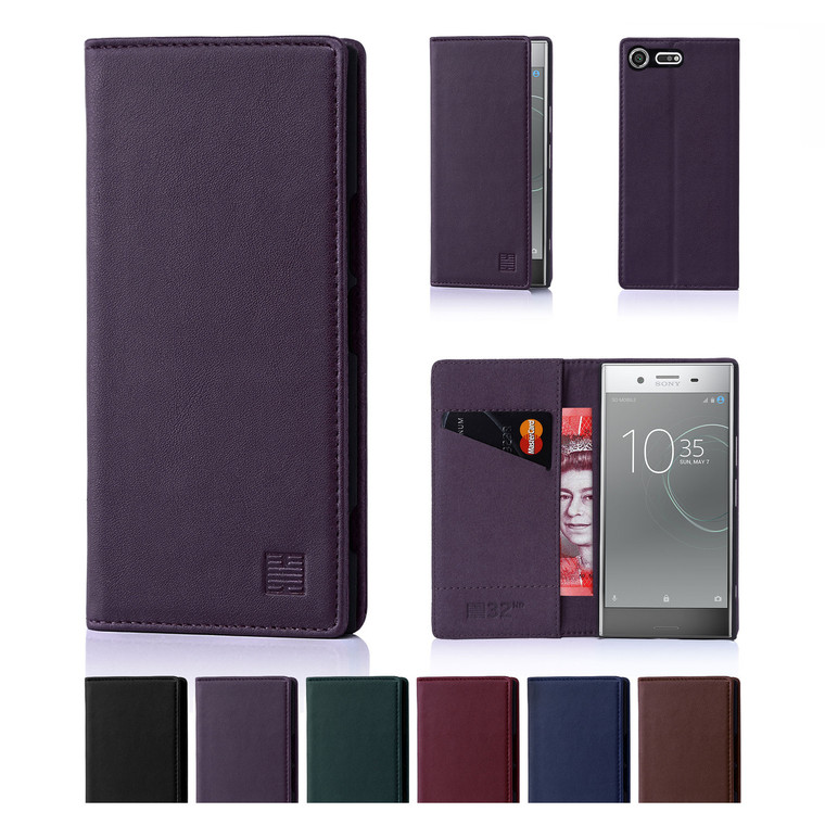 32nd real leather classic wallet Sony Xperia XZ Premium Case in a range of colours.