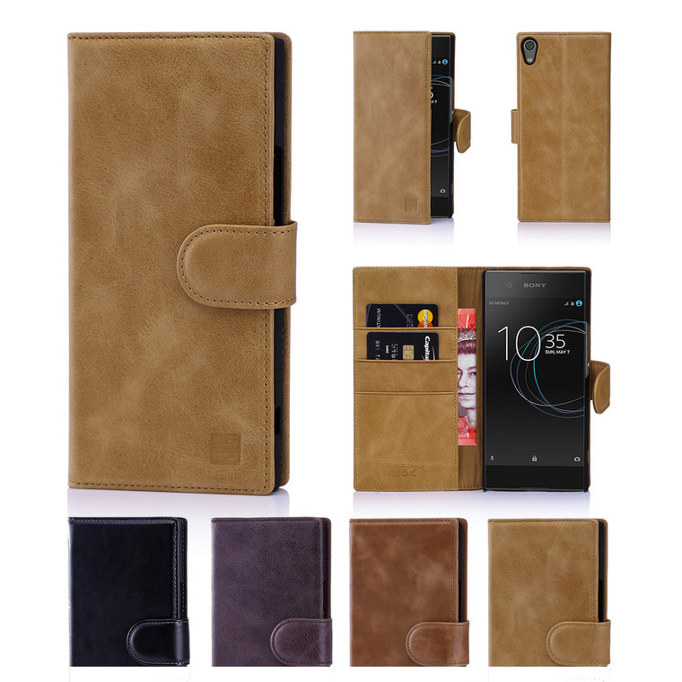 32nd premium leather book wallet Sony Xperia XA1 Case.