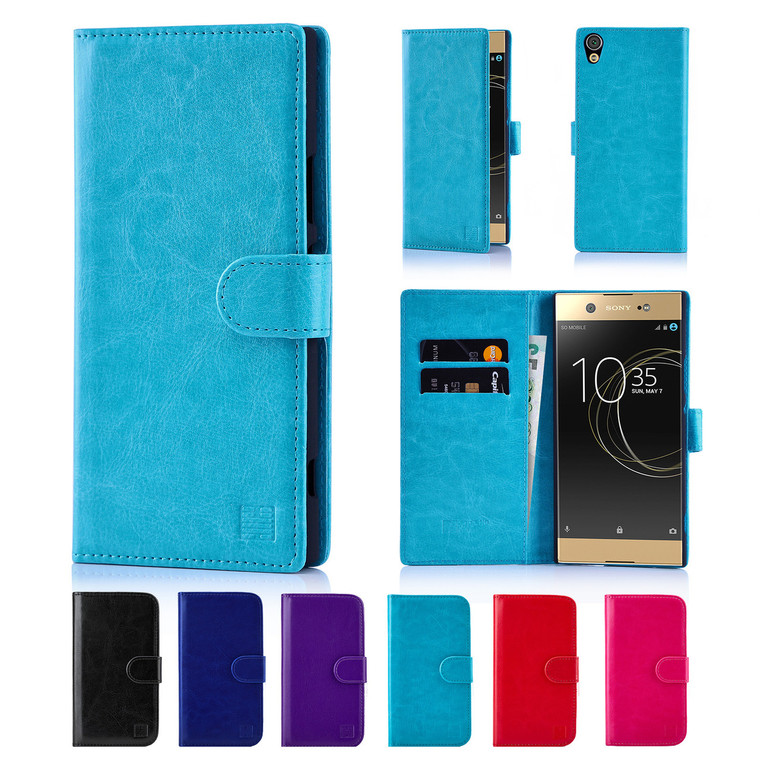 32nd synthetic leather book wallet Sony Xperia XA1 Ultra Case in a range of fantastic colours.