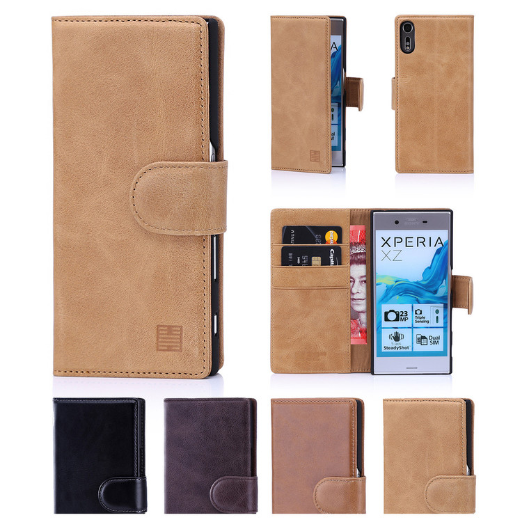 32nd Premium Leather Sony Xperia XZ Case in 4 colours.