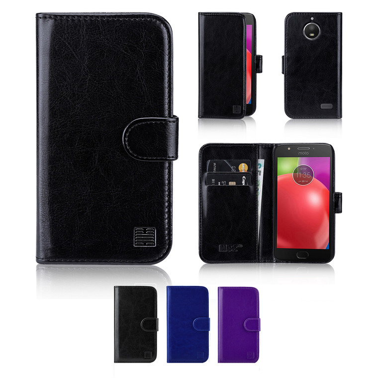 32nd synthetic leather book wallet Motorola Moto E4 Plus Case in a range of great colours.