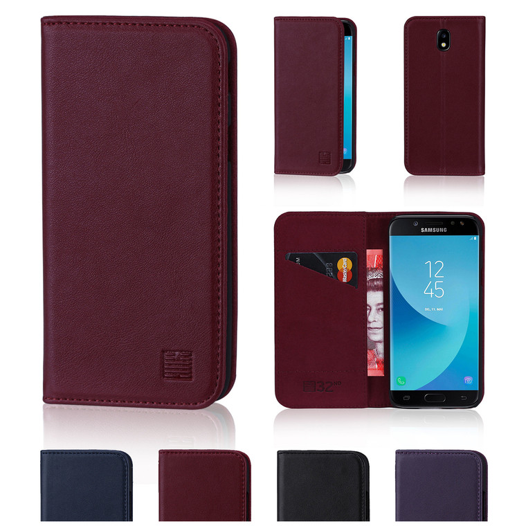 32nd real leather classic wallet Samsung Galaxy J5 (2017) Case in a range of fantastic colours.