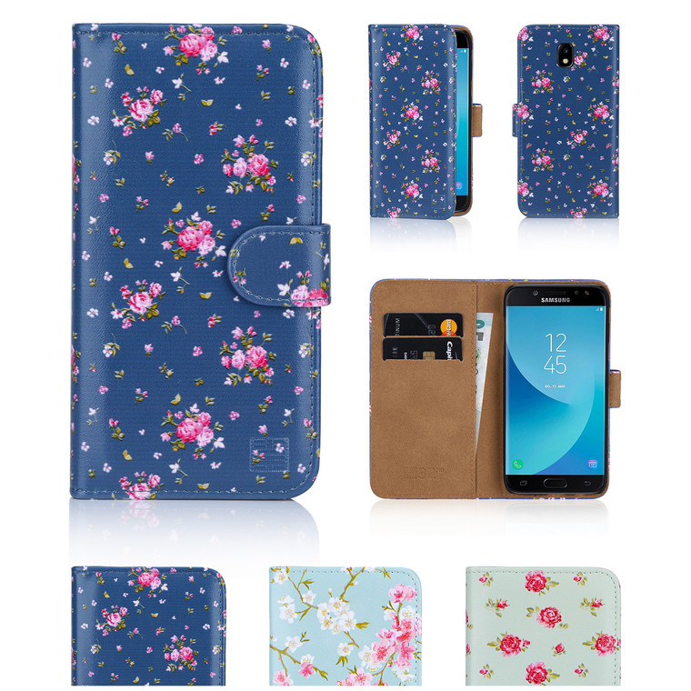 32nd synthetic leather floral design book wallet Samsung Galaxy J5 (2017) Case.