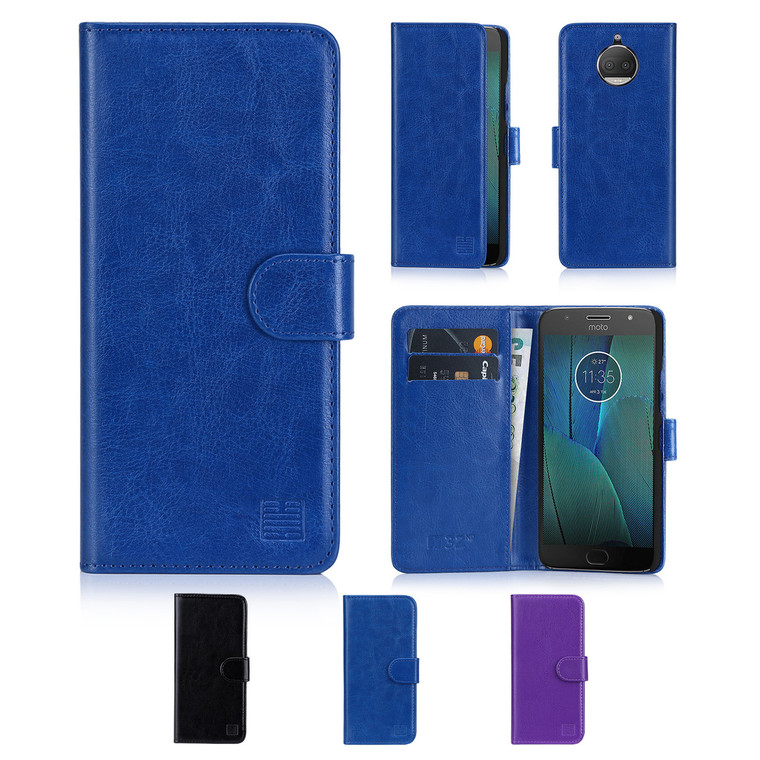 32nd Shop Book wallet Motorola Moto G5s Plus Case features card slots for storing bank cards and notes.