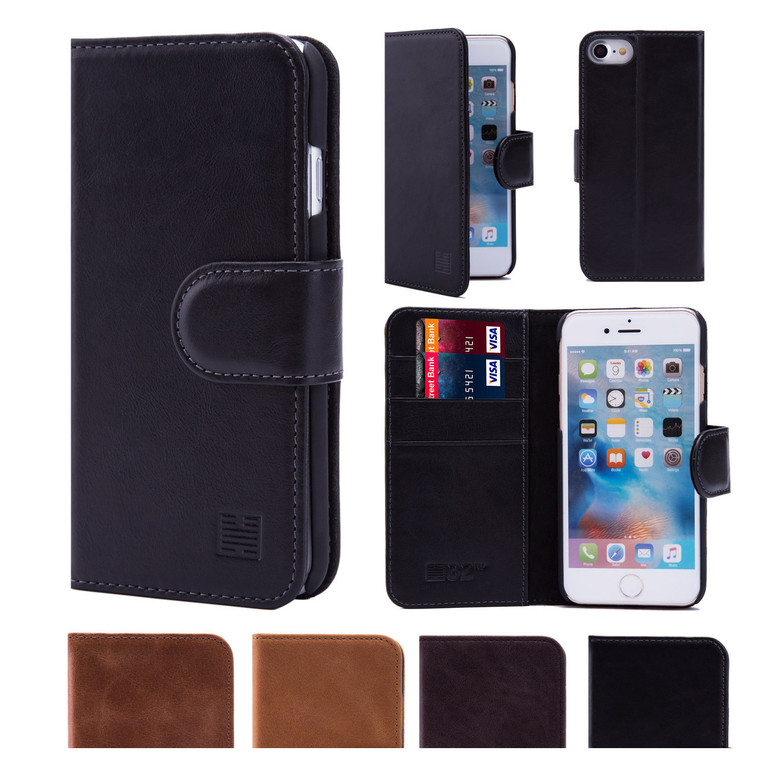32nd premium leather book wallet Apple iPhone 8 Case.