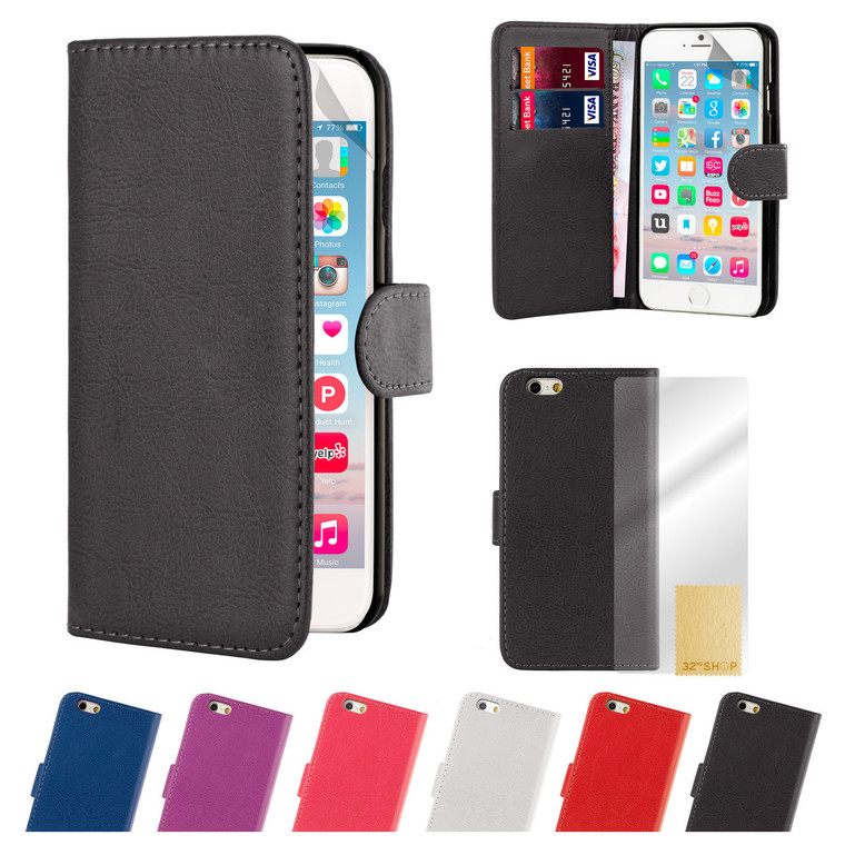 32nd synthetic leather book wallet Apple iPhone 8 Plus Case in a range of great colours.