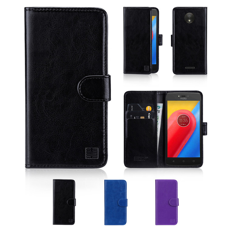 The 32nd Book Wallet Motorola Moto C Case has card slots and handy storage compartment keeping everything in one place.