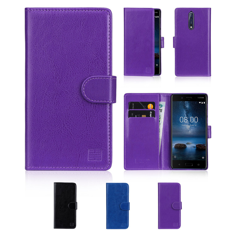 32nd synthetic leather book wallet Nokia 8 (2017) Case.