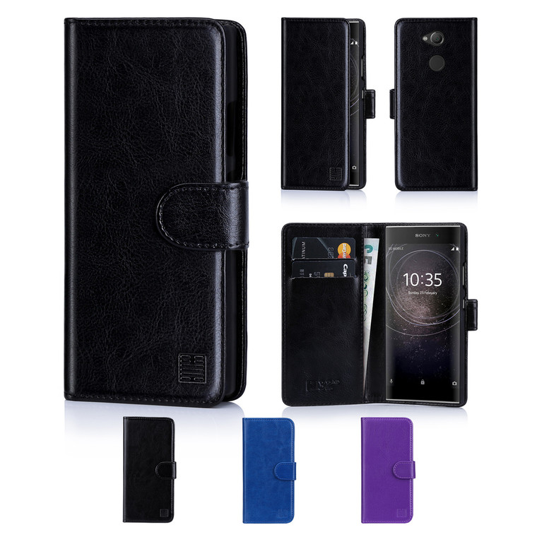 32nd synthetic leather book wallet Sony Xperia L2 Case in a range of colours.