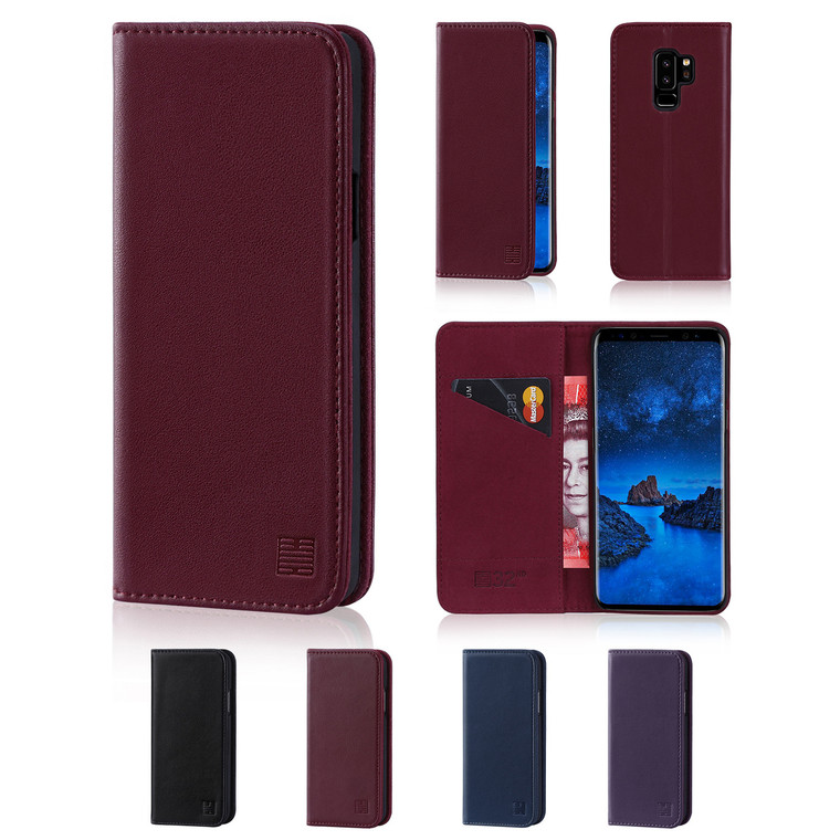 32nd real leather classic wallet Samsung Galaxy S9 Case in a range of fantastic colours.