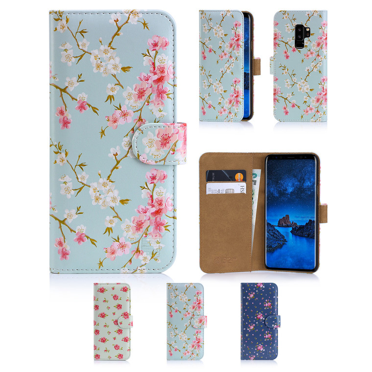 32nd synthetic leather floral design book wallet Samsung Galaxy S9 Plus Case.