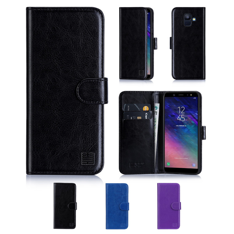 32nd synthetic leather book wallet Samsung Galaxy A6 (2018) Case in a range of colours.