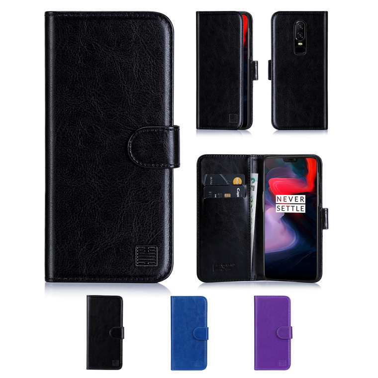 32nd synthetic leather book wallet OnePlus 6 Case in a range of colours.