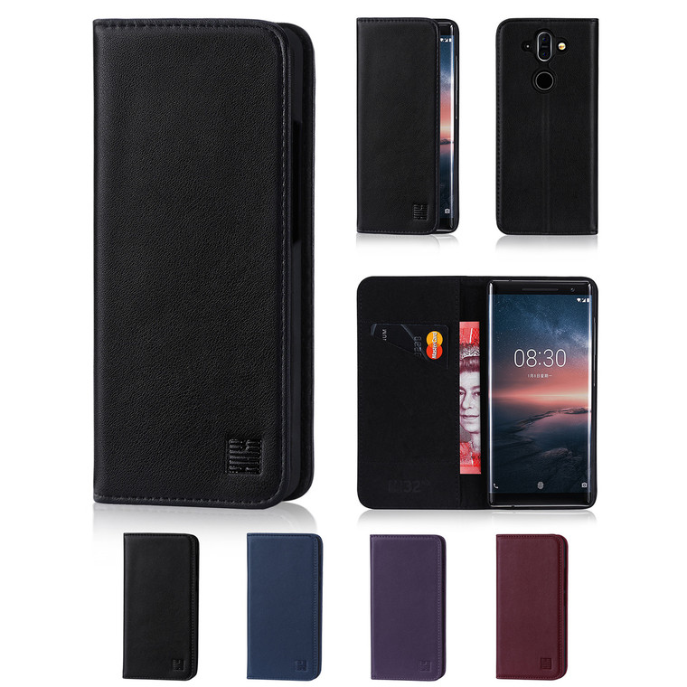 32nd real leather classic wallet Nokia 8 Sirocco (2018) Case in a range of fantastic colours.