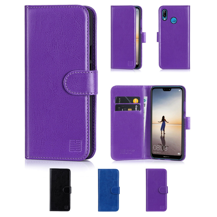 32nd synthetic leather book wallet Huawei P20 Lite Case in a range of colours.