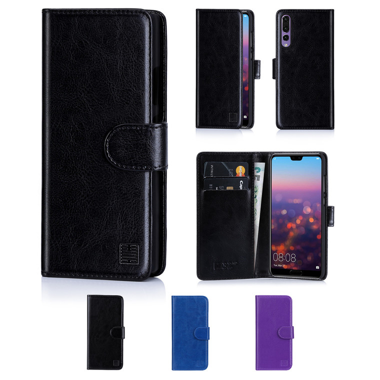 32nd synthetic leather book wallet Huawei P20 Pro Case in a range of colours.