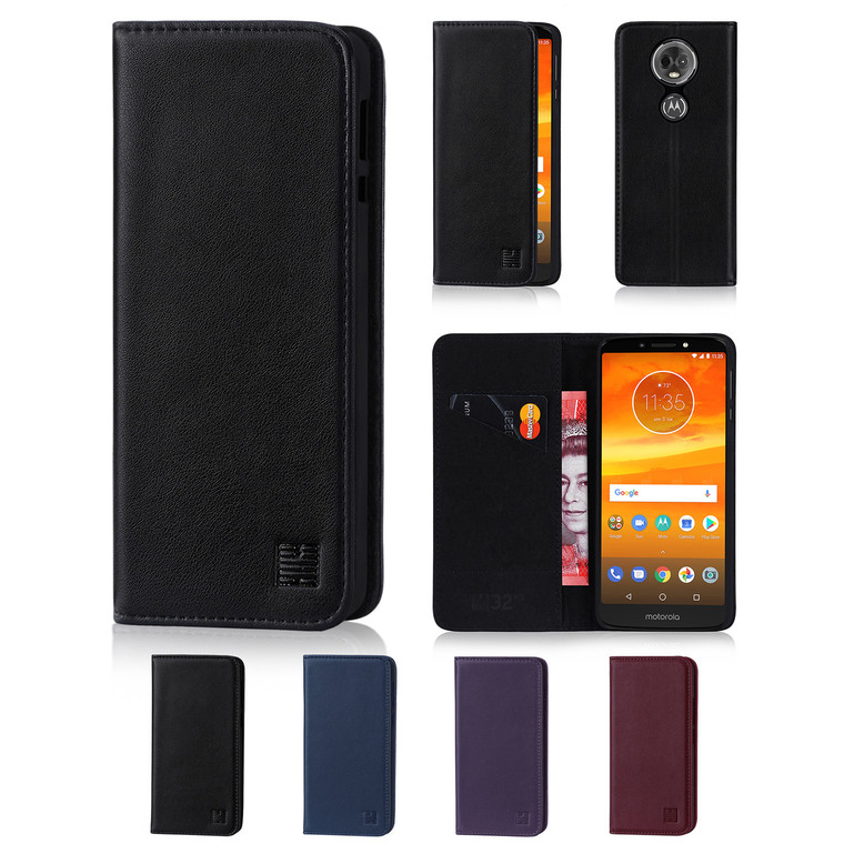 32nd real leather classic wallet Motorola Moto E5 Plus Case in a range of fantastic colours.