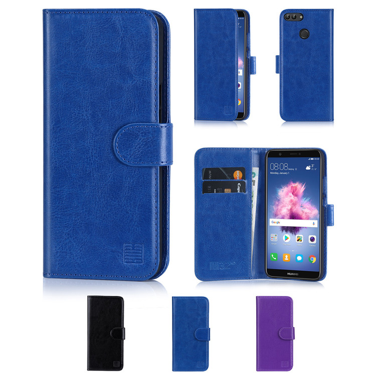 32nd synthetic leather book wallet Huawei P Smart Case in a range of colours.