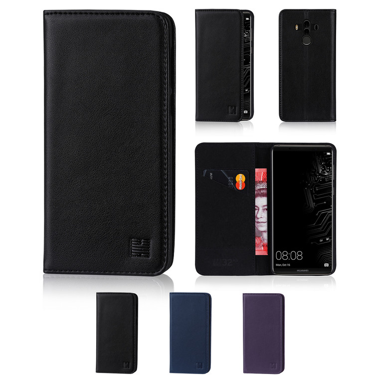 32nd real leather classic wallet Huawei Mate 10 Pro Case in a range of fantastic colours.