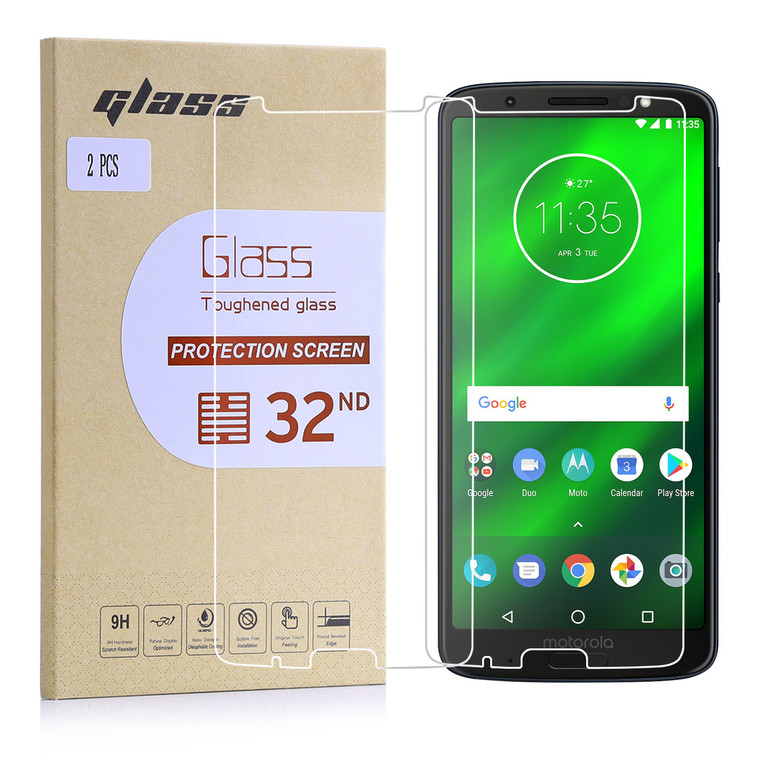 Motorola Moto G6 Plus tempered glass screen protector by 32nd.