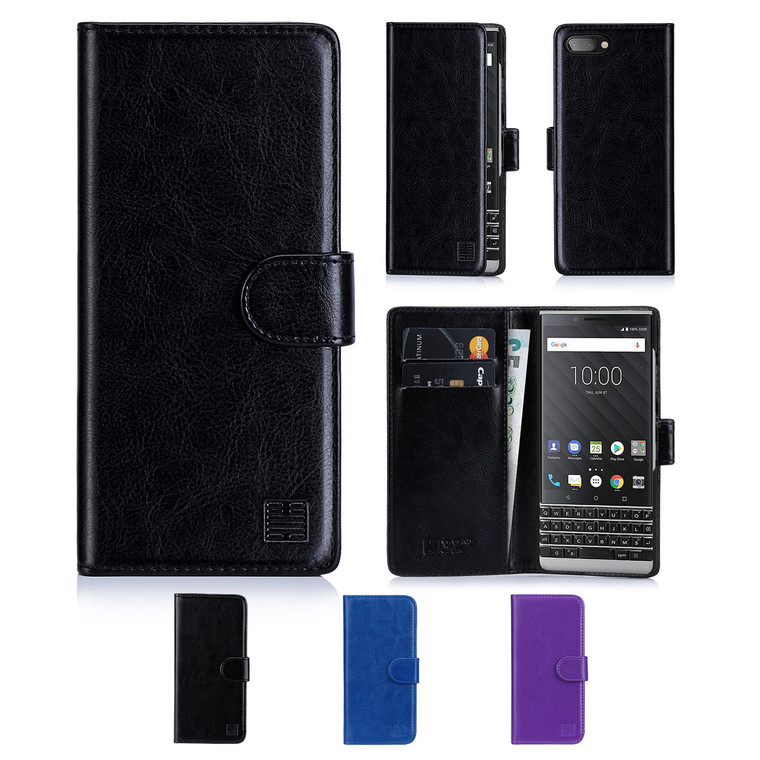 32nd synthetic leather book wallet BlackBerry Key2 Case in a range of colours.