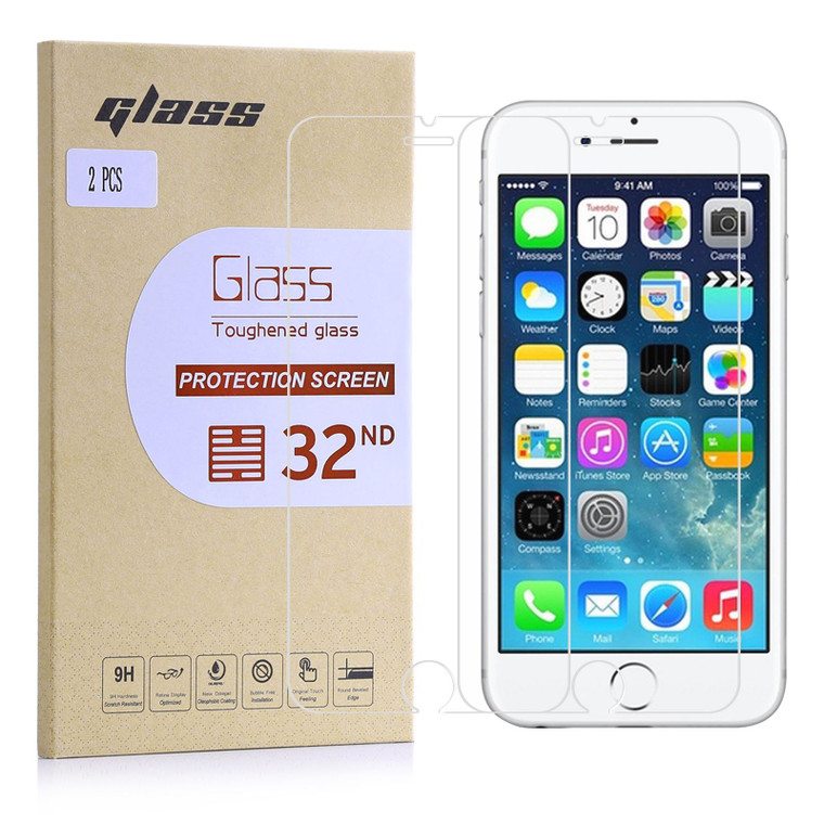 Apple iPhone 7 Plus / 8 Plus Tempered Glass Screen Protector - 2 Pack