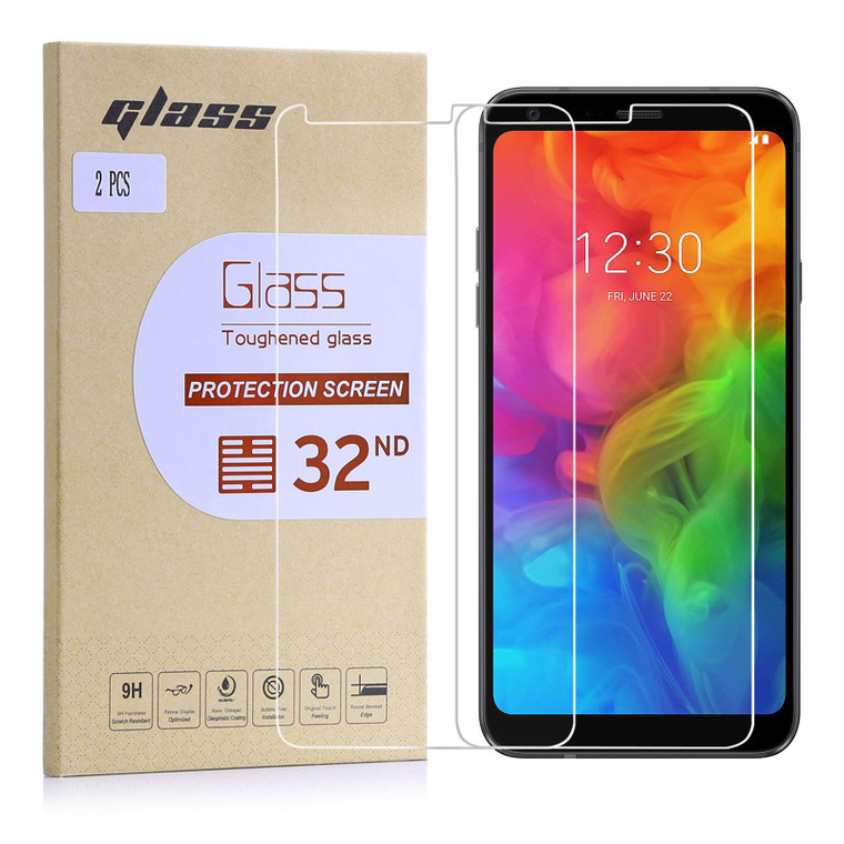 LG Q7 Tempered Glass Screen Protector - 2 Pack