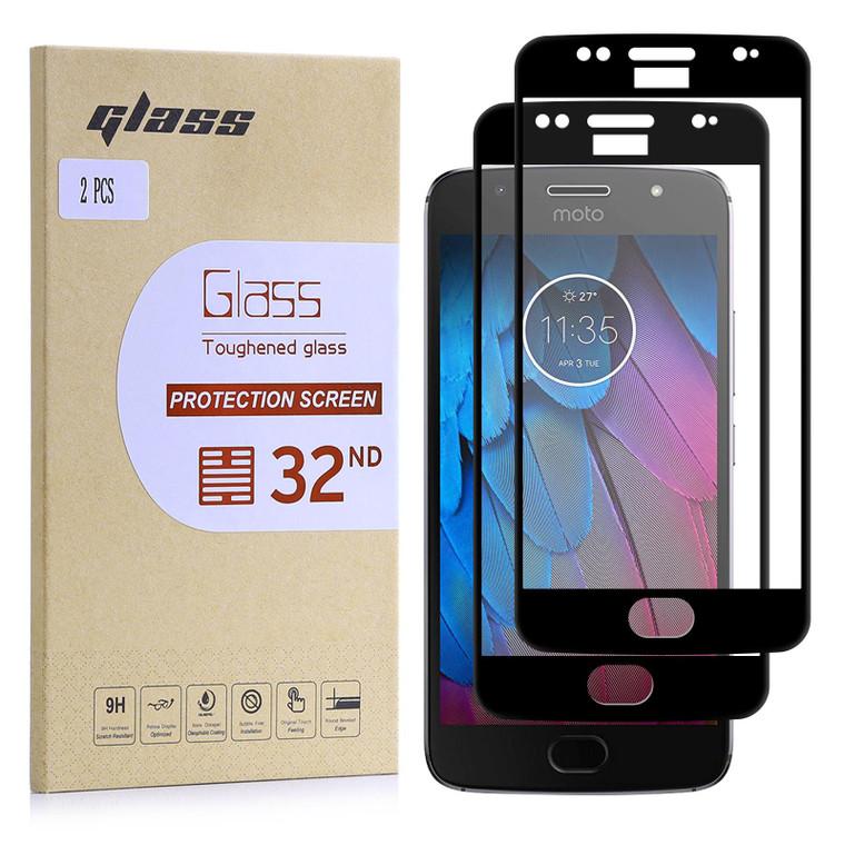 Motorola Moto G5S Tempered Glass Screen Protector - 2 Pack