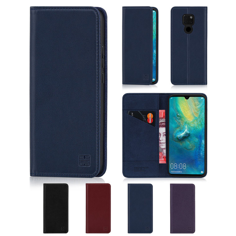 Huawei Mate 20 'Classic Series' Real Leather Book Wallet Case