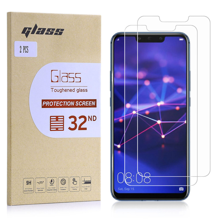 Huawei Mate 20 Lite Tempered Glass Screen Protector - 2 Pack