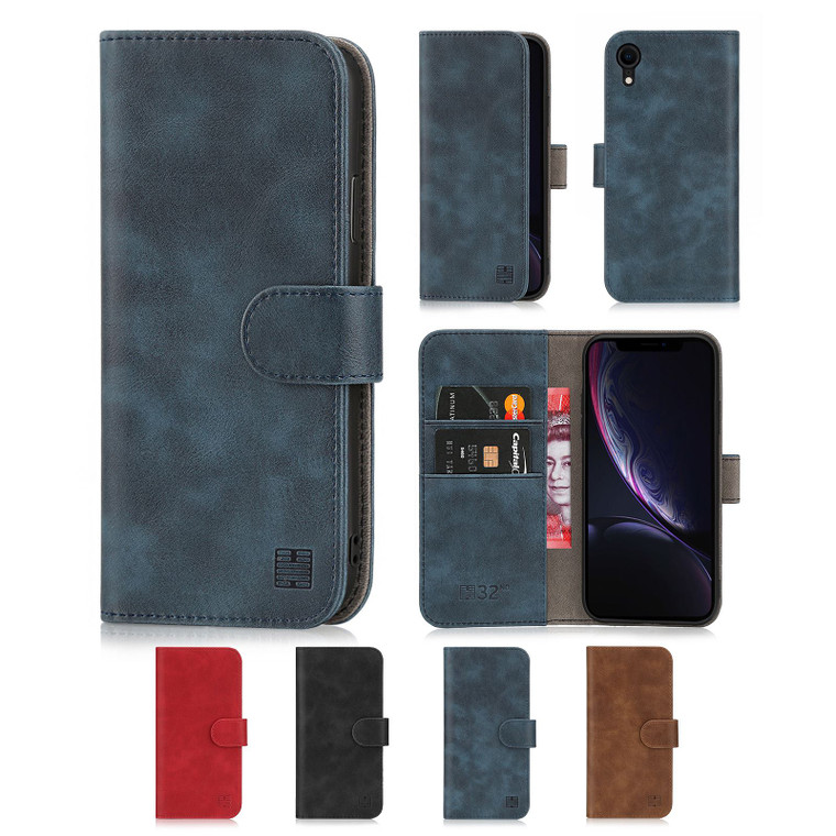 Apple iPhone XR 'Essential Series' PU Leather Wallet Case Cover