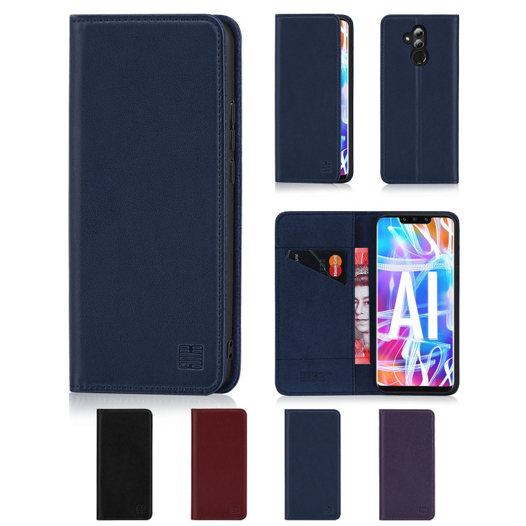 Huawei Mate 20 Lite 'Classic Series' Real Leather Book Wallet Case
