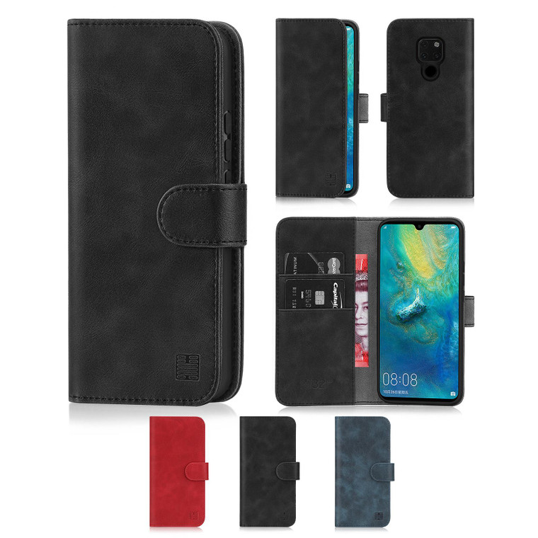 Huawei Mate 20 'Essential Series' PU Leather Wallet Case Cover