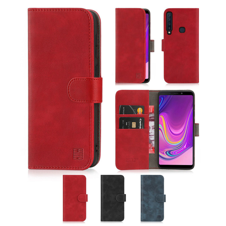 Samsung Galaxy A9 (2018) 'Essential Series' PU Leather Wallet Case Cover