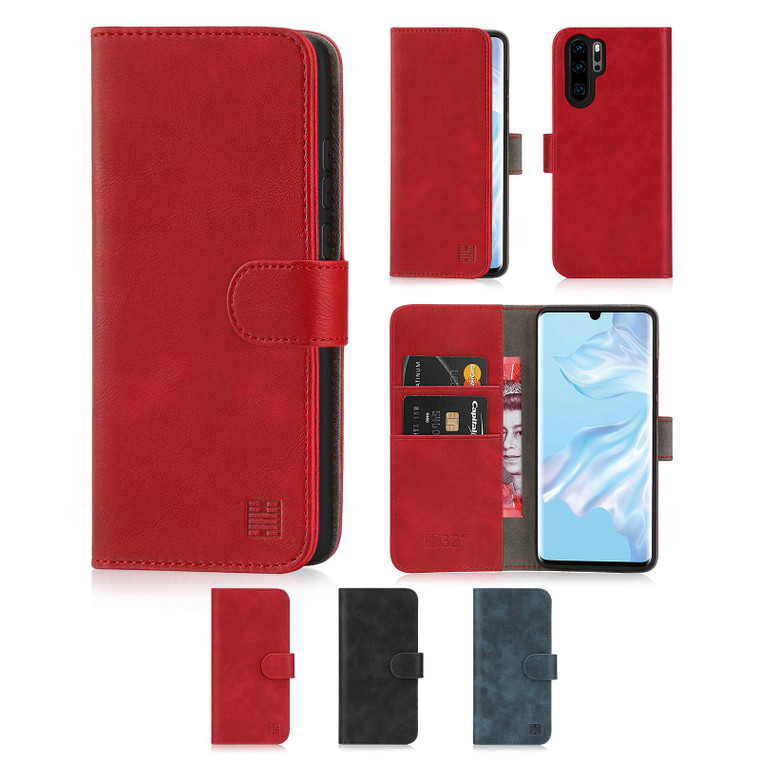 Huawei P30 Pro 'Essential Series' PU Leather Wallet Case Cover