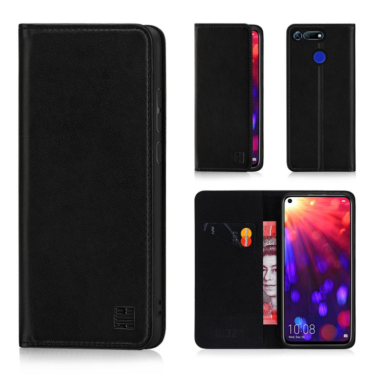 Huawei Honor View 20 'Classic Series' Real Leather Book Wallet Case