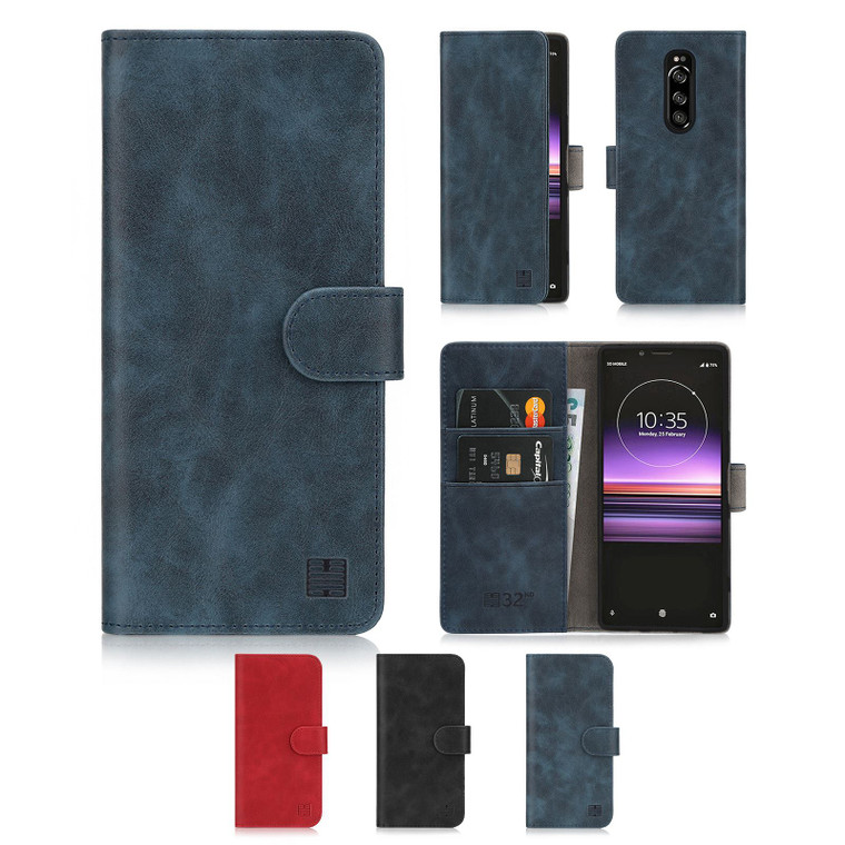 Sony Xperia 1 (2019) 'Essential Series' PU Leather Wallet Case Cover